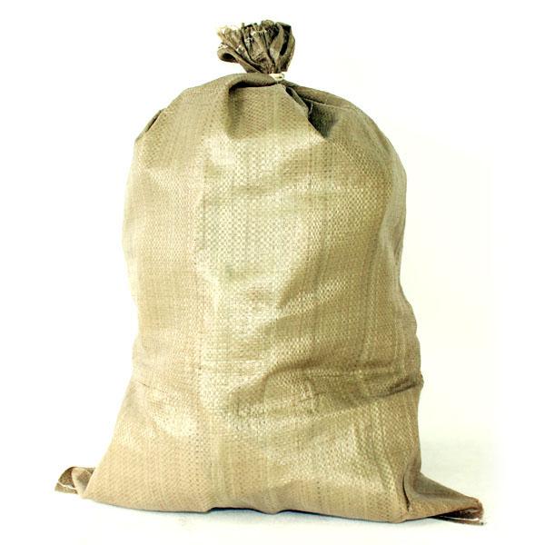 PPガラ袋 25枚入(茶) ひも付