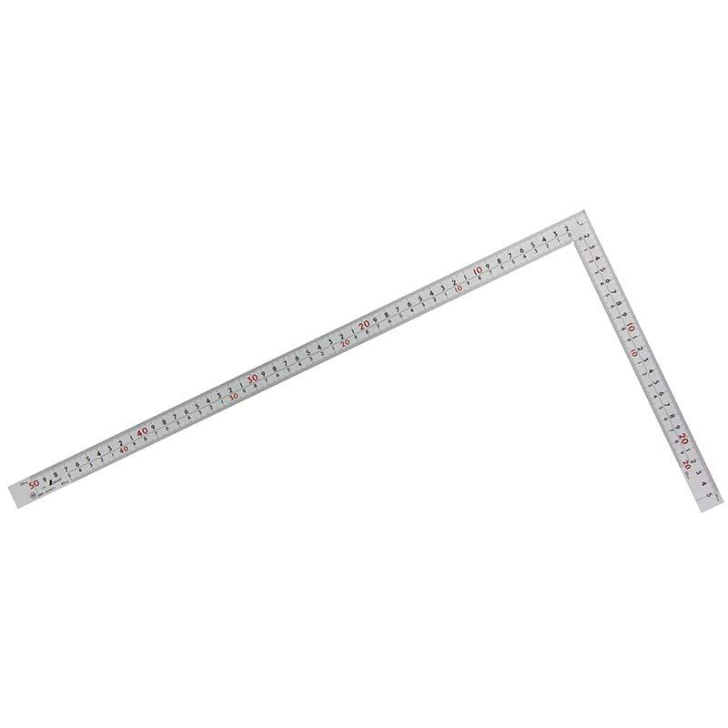 10450 曲尺 厚手広巾 シルバー 50cm表裏同目 8段目盛 cm表示 JIS シンワ測定