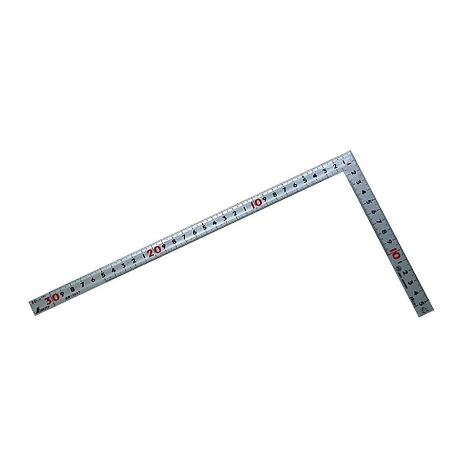 10647 曲尺同厚 シルバー 30cm 表裏同目 名作 JIS シンワ測定 ☆