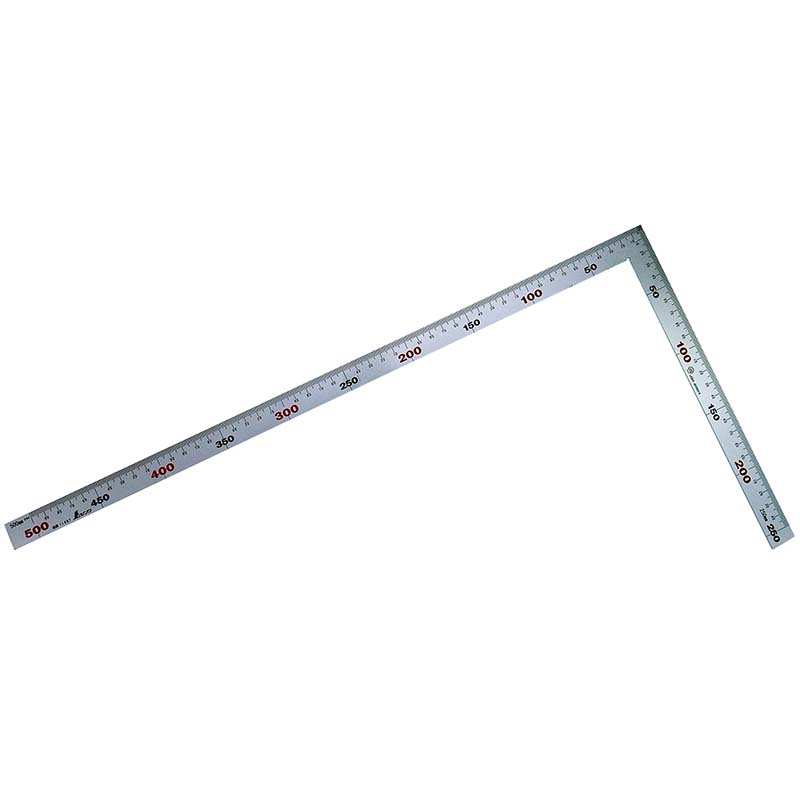 11487 曲尺 厚手広巾 シルバー 50cm表裏同目 4段目盛 JIS シンワ測定