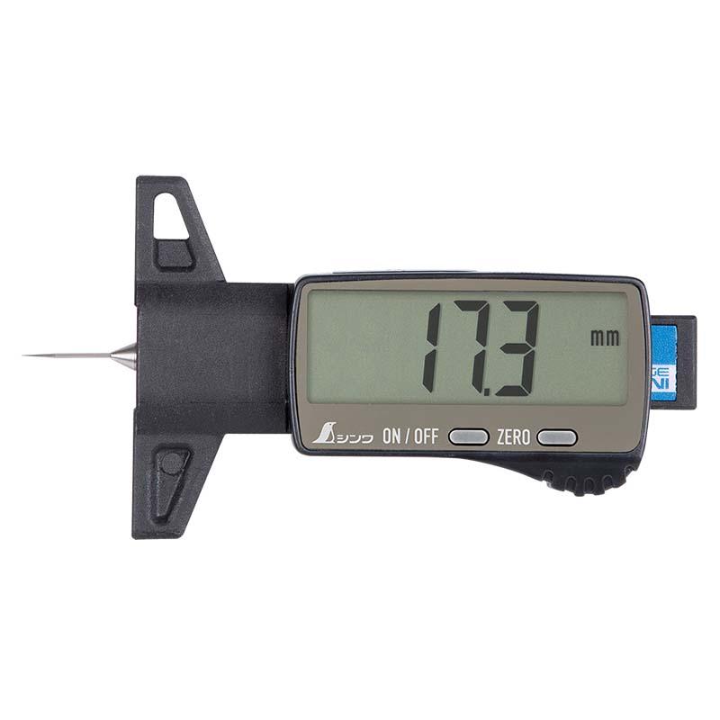 19310 デジタルデップスゲージ ミニ 25mm 金属測定子 測定ガイドセット シンワ測定