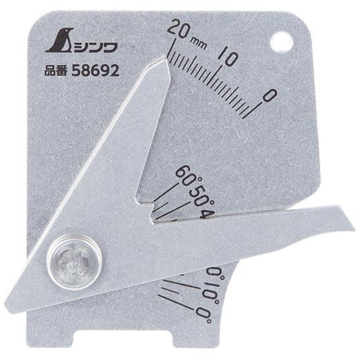58692 溶接ゲージ B シンワ測定 メール便 新製品