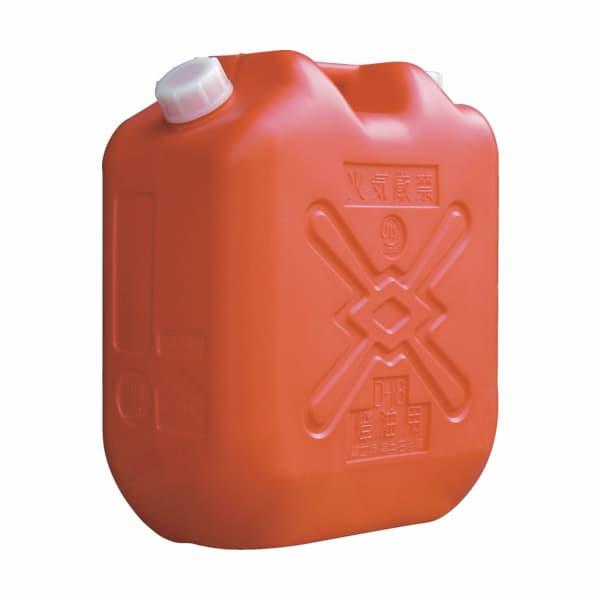 灯油缶 18L 赤 本体のみ(ポリ缶)