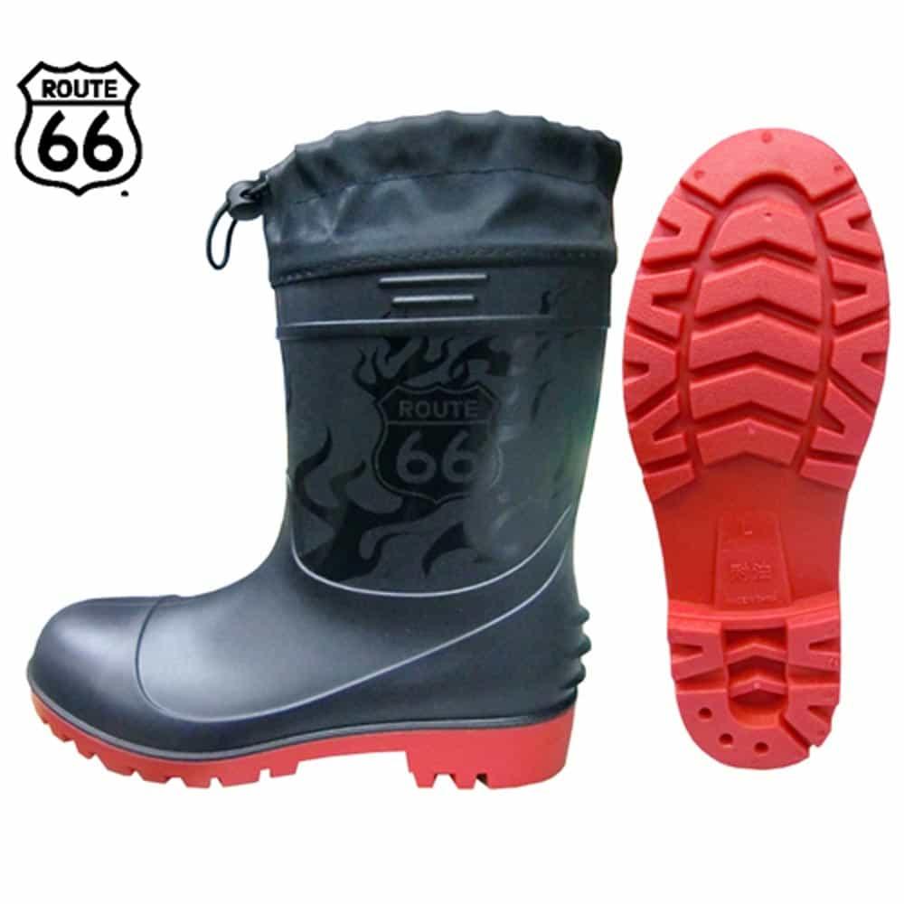 66-85 ショートPVC安全ブーツ ブラック ルート66(富士手袋)