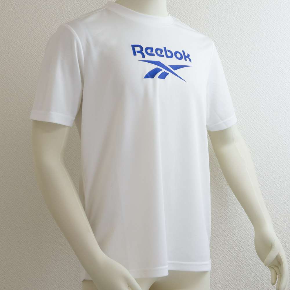 UVカットTシャツ ホワイト リーボック(Reebok) メール便